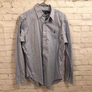 Ralph Lauren light blue button down shirt